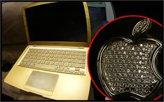 """""""Gold Macbook... Cost 100 G's."""" Owned by C. Breezy."""