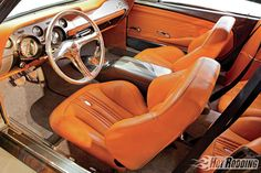 1967 Ford Mustang Shelby – Serious As A Heart Attack, 67 mustang fastback gt500 grey with camel butterscotch interior. custom painted console door panels, shelby ridler contender. brown tan orange