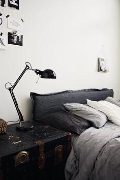 Black Grey White Bedroom