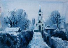 Просмотреть иллюстрацию церковь в Амстердаме из сообщества русскоязычных художников автора маша бржезинская в стилях: Академический рисунок, графика, живопись,