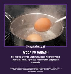 NIE WYLEWAJ WODY PO UGOTOWANIU JAJEK! Diy Cleaning Products, Cleaning Hacks, Pam Pam, Healthy Style, Simple Life Hacks, Home Hacks, Kitchen Hacks, Good Advice, Good To Know