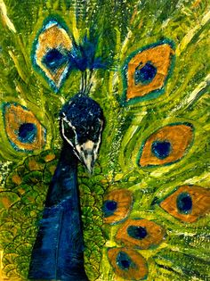 """Proud"", peacock by Mariska Dommers-Slager."