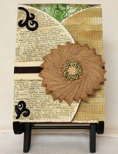 Luxury greeting card mixed media original handmade card