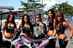 Monster Energy Girls NZ - #HBelite  #NZSGP Brooke, Erin, Tania, Cody with Motomayhem fmx rider Mitch Maddog McHardy info@HBelite.com