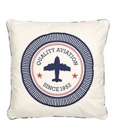 This Oliver Aviation Throw Pillow is perfect! #zulilyfinds