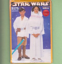 Star Wars Luke Skywalker Leia Costumes/ by FlashbackFinds on Etsy