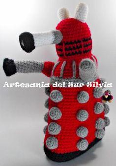 Amigurumi Dalek, robot serie Doctor Who
