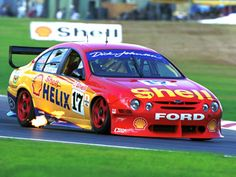 Dick Johnson Racing Falcon AU Australian V8 Supercars, Australian Cars, Race Car Track, Race Cars, Royal Dutch Shell, Aussie Muscle Cars, Car Racer, Ford Falcon, Top Cars