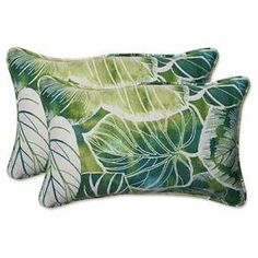 Pillow Perfect Key Cove Lagoon Outdoor Decorative Pillow Set - Green