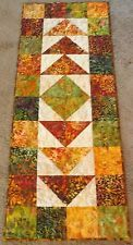 "Hand Made Quilted Table Runner/Mat/Topper~ 16"" x 39"" ~ Batiks"