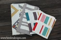 Love Ladder and Koa Avenue quilt patterns from Lunden Designs!