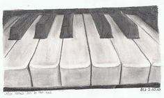 Drawing of a Piano