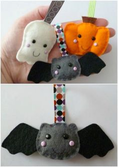 Halloween Trees – 15 Fun And Creative Ways To Prepare and Decorate Felt Halloween Ornaments, Halloween Christmas Tree, Felt Ornaments, Halloween Crafts, Halloween Decorations, Xmas, Felt Diy, Felt Crafts, Diy Crafts