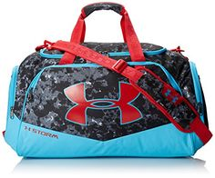 Under Armour Undeniable Duffel Bag, Black/Island Blues/Red, Medium