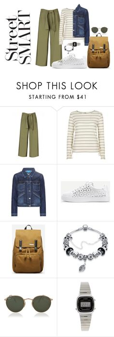 """""""street"""" by ludramaqueen ❤ liked on Polyvore featuring River Island, M.i.h Jeans, WithChic, Everlane, Ray-Ban and Casio"""