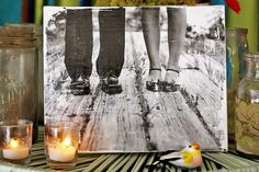 DIY Photo Transfer Projects • Lots of great Ideas & Tutorials! Including this canvas portrait project from 'a beautiful mess'.