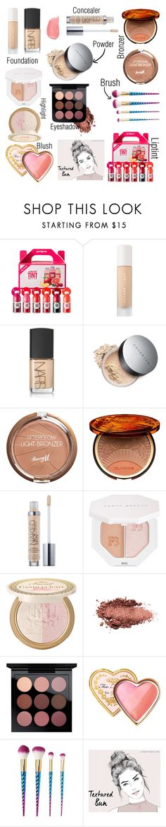 """""""LIPTINT : makeup 101"""" by r19seas ❤ liked on Polyvore featuring peripera, Puma, NARS Cosmetics, Barry M, Clarins, Urban Decay, Power of Makeup, Too Faced Cosmetics, Charlotte Russe and makeup"""