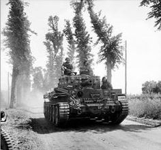 Centaur IV tank of the Royal Marines Armoured Support Group near Tilly-sur-Seulles