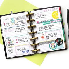 """Stickers + stamps. Stamps + stickers. Whichever one you start with, the result is still the same: fun, personalized Happy Planner® pages. . . Design Team member @katietheplanner created this layout in her MINI 'Be Bright' Happy Planner®, and about it she writes: """"I'm still new to stamping, and I didn't want to start with an all-stamps layout. Mixing in stickers gave me the option to hide any accidental smudges or other mistakes. . . The full box stamps that are sized to fit vertically in…"""
