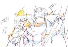 Animated key frames from the music video S.t.a.r.S. featured in the Tokimeki Yoko Book. Yoko is not amused.