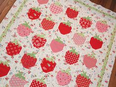 I don't normally like this look, but the strawberries remind me of my blankie from when i was little (that I might still have).