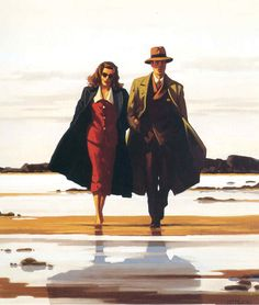 The Road to Nowhere - Jack Vettriano This reminds me of Dagny Taggart and Hank Reardon