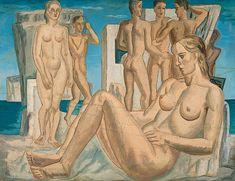 Γεράσιμος Στέρης - Μυθικό Τοπίο Art Story, Greek Art, Conceptual Art, Printmaking, Contemporary Art, Fine Art, 1930, Greece, Swimmers