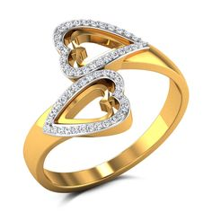 Vivica Diamond Studded Gold Ring