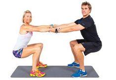 5 ejercicios para realizarlo en pareja.   ¡Ponte fit en pareja! ~ Reto de 30 días Fitness