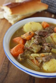 Minnesota Winter Beef Stew   1 lb of chuck beef cubes  6 carrots  5 stalks of celery  1 large white onion  3 cloves garlic - minced  1 bay leaf  2 cloves  1 tsp salt  1 tsp black pepper  3 cups of water   10 baby potatoes   3 tbsp flour