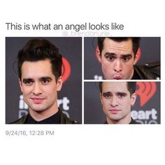 For everything Panic At The Disco check out Iomoio Emo Band Memes, Emo Bands, Music Bands, Panic! At The Disco, Brendon Urie Memes, Pretty Men, Beautiful Men, Oui Oui, Fall Out Boy