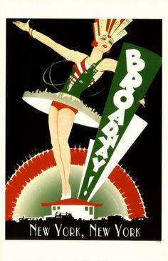 NY vintage tourism poster