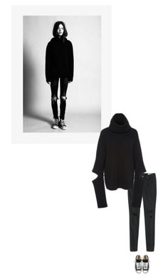 """""""/"""" by darkwood ❤ liked on Polyvore featuring Converse, T By Alexander Wang, Public School and Wintertospring"""