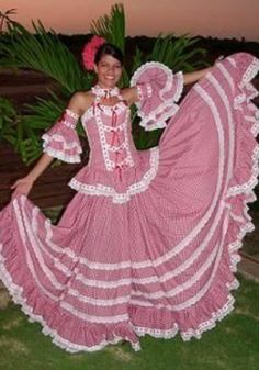 Traje atlántico Folklorico Dresses, Colombian Culture, Authentic Costumes, Culture Day, Flamenco Skirt, America Outfit, 2017 Inspiration, Latin Women, Folk Costume
