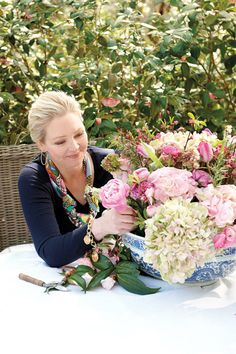 11 tips for arranging flowers: Sit while you're arranging to test the height