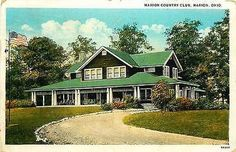 Marion Ohio 1923 Marion Country Golf Club Collectible Antique Vintage Postcard