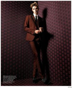 Tommy Marr Models Graphic Mens Fashions for Style Magazine