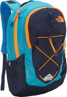 The North Face Jester Laptop Backpack Enamel Blue/Shocking Orange - via eBags.com!