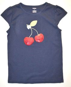 Gymboree-Cherry-Cute-khaki-capri-pants-sequin-cherry-navy-top-shirt-7-8-LN