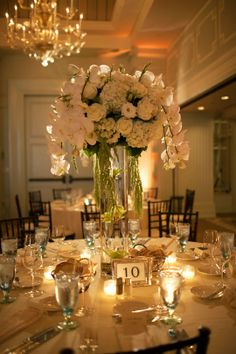 Gorgeous table setting - it is for a wedding but would be amazing for a special dinner party.