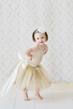 tutu skirt for girls, flower girl dress, Soft Tulle Champagne Gold Brown tutu PHOTOGRAPHY Bridal Weddings Flower Girls CUSTOM sewn tutus. $88.00, via Etsy.