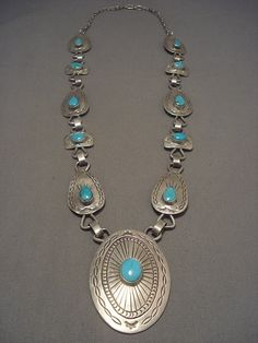 Knockout Vintage Navajo Turquoise Concho Belt Silver Necklace | eBay
