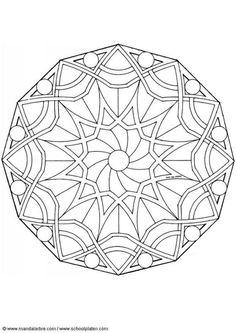 Mandalarbre – Colouring for Adults - Malvorlagen Mandala Zentangle Patterns, Mandala Pattern, Mandala Art, Pattern Art, Color Patterns, Celtic Mandala, Zentangles, Craft Patterns, Quilt Pattern
