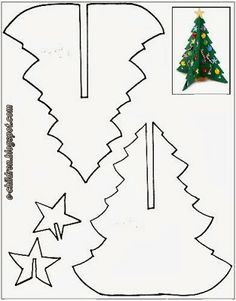 tree templates for kids ; tree templates for kids free printable Christmas Tree Template, 3d Christmas Tree, Christmas Paper, Christmas Crafts For Kids, Christmas Printables, Christmas Colors, Christmas Projects, Holiday Crafts, Christmas Holidays