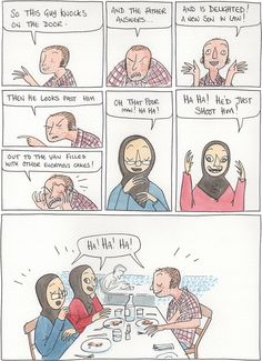 It's a real conversation I had while I was at FIBDA in Algeria that really tickled me. Son In Law, Berry, Dan, Father, Guys, Comics, Illustration, Inspiration, Pai