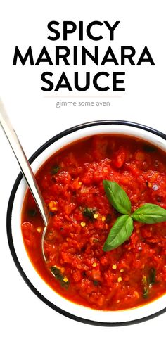 This Spicy Arrabbiata Sauce recipe is a classic Italian marinara made simply with canned tomatoes, garlic, onion, basil, olive oil (or butt. Spicy Tomato Sauce, Tomato Sauce Recipe, Tomato Sauce For Pasta, Arabiatta Sauce Recipe, Tomatoe Sauce, Italian Tomato Sauce, Italian Pasta, Sauces, Italian Foods