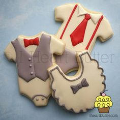 Baby Boy Shower Cookies