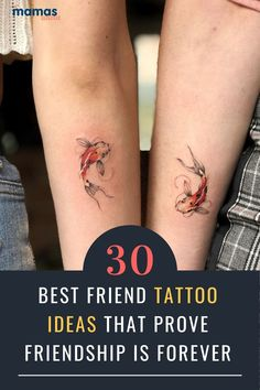 30 Best Friend Tattoo Ideas to Share with Your Bestie Friendship tattoos are lasting symbols of your special bond. We found some exciting designs that you and your best friend should totally steal. #Tattoos #BFFs #Friends
