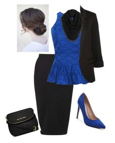 """""""Blue//Black"""" by ohraee019 on Polyvore featuring Mix No. 6, Miss Selfridge, White + Warren and MICHAEL Michael Kors"""