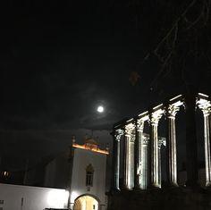 Évora, Alentejo, Portugal by night.